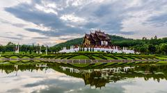 Ho kham luang traditional thai architecture in royal flora expo,Chiang mai, T Stock Photos