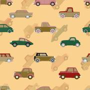 Seamless vector pattern with cars Stock Illustration