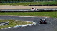 Stock Video Footage of race car cornering