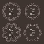 Ornate richly decorated vintage frame in Victorian style Stock Illustration