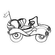 Car Convertible - stock illustration