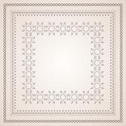 Intricate frame Stock Illustration