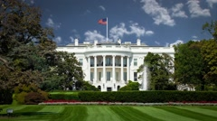 Whitehouse with Clouds in Timelapse Stock Footage