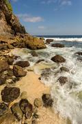 Coastline at Nusa Penida island Stock Photos