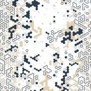 Digital background of different color chaotic elements Stock Illustration