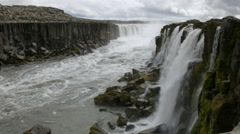 Selfoss waterfall in Northern Iceland - stock footage