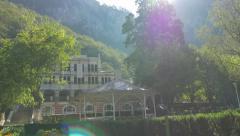 Old casino building of spa resort Herculane located in  western Romania 4K  Stock Footage
