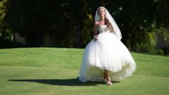 Bride is smiling Stock Footage
