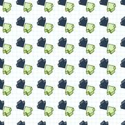 Seamless pattern of arrows surround-like cursors Stock Illustration