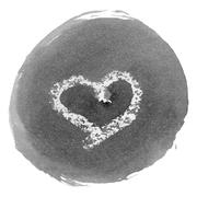 Stock Illustration of Ink Stain with the Symbol of Heart
