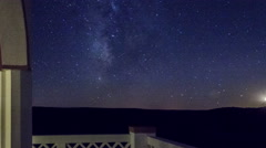 4k Timelapse Stars and moonset in the night over Alentejo Stock Footage