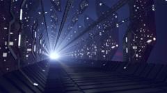 Future sci-fi corridor of glass, loop-able 4K Stock Footage