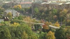The sleeping area of the city. Monorail. Stock Footage