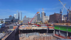 One block Construction, 11Th Avenue to10Th Avenue. 4K Stock Footage