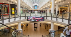 Time lapse of shoppers in a busy mall Stock Footage