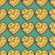 Seamless Pattern Hearts Stock Illustration