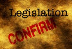 Legislation confirm - stock photo