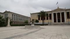 National University of Athens in Greece Stock Footage