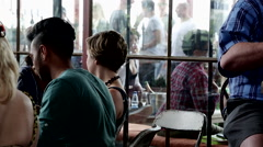 Bar very busy close Stock Footage