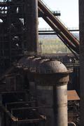 blast furnace - stock photo