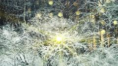 Stock Video Footage of frozen bush in wintry forest seamless loop 4k (4096x2304)