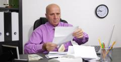 Invoices Payday Taxes Payment Manager Job Calculate Cash Money Us Dollar Bills - stock footage