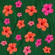 Tropical background Stock Illustration