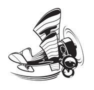 Vector Cartoon Biplane Stock Illustration