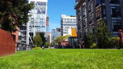 High Line New York City Time Lapse 4K Stock Footage