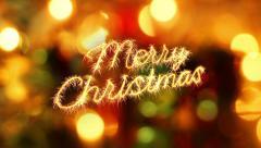 Merry christmas sparkler greeting last 10 seconds loop Stock Footage