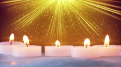 christmas decorations and stardust in light beams loopable - stock footage