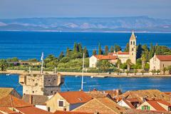 Adriatic island of Vis seafront - stock photo