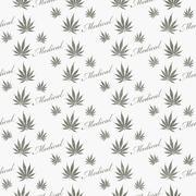Gray and White Medical Marijuana Tile Pattern Repeat Background Stock Illustration