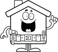 Cartoon Home Improvement Idea Stock Illustration