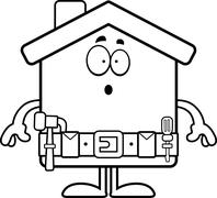 Surprised Cartoon Home Improvement Stock Illustration
