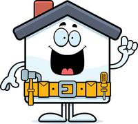 Cartoon Home Improvement Idea - stock illustration