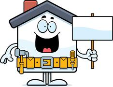 Cartoon Home Improvement Sign Stock Illustration