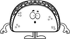 Surprised Cartoon Taco Stock Illustration