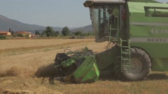 Wheat Harvest in Tuscany Stock Footage