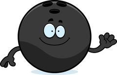 Stock Illustration of Cartoon Bowling Ball Waving