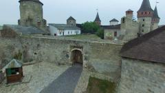 Stock Video Footage of Aerial: Old castle in Kamenetz-Podolskiy, Ukraine.