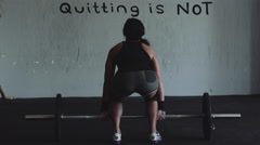 4k Strong Woman Weightlifting - stock footage