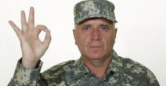 Handsome Soldier Military Man Portrait Ok Sign Hand Gesture Positive Attitude US Stock Footage