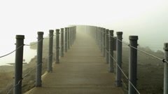 Foggy footbridge to infiniti Stock Footage