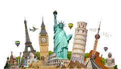 Illustration of famous monument of the world Stock Illustration
