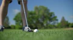 Slow motion golf Tee-Off Stock Footage