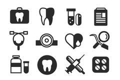 Medicine vector icons set. Doctors tools for health care Piirros