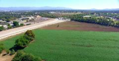4K, Aerial  view and Panorama of San Fernando Valley and Soccer Field Stock Footage