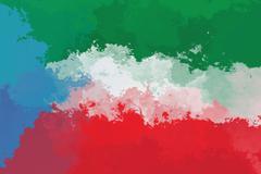 Equatorial Guinea flag Stock Illustration