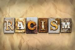 Racism Concept Rusted Metal Type - stock illustration